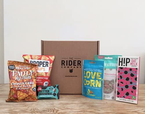 Vegan Hamper with Healthy Vegan Snacks | Gift Box & Vegan Chocolate Gifts, Mini Hamper from The Rider Company