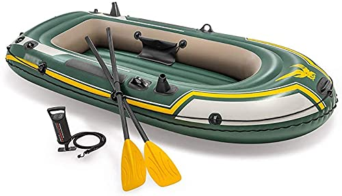 LVYE1 MRMF Bote Inflable, Kayak Inflable, Canoa De Kayak De Aire De Pesca De Servicio Pesado para 2 Personas, PVC Doble Engrosado Plegable Resistente Al Desgaste para Adultos Pescando