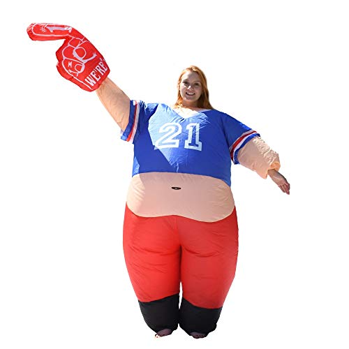 ALEKO ICP04 Halloween Inflatable Party Costume - Pot Belly #1 Sports Fan - Adult Sized