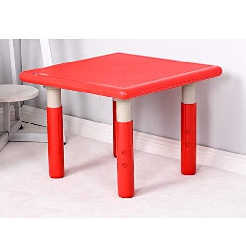 LIANGJUN Table Et Chaises for Enfants Lis Art Activité Jouet Salle De Jeux Plastique Anti-livre Facile À Nettoyer, 5 Couleurs (Color : Red, Size : 60x60x46cm)