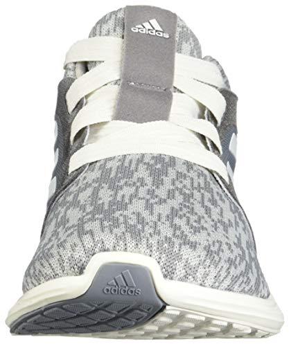 adidas Women's Edge Lux 3 Running Shoe, grey/cloud white/silver metallic, 8.5 M US 4