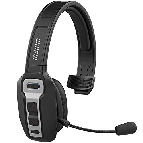 Willful Bluetooth Headset,Headset mit Advanced Noise Cancelling Mikrofon,Wireless Headset Rauschunterdrückung PC Headset 30 Stunden Spielzeit Freisprechen Kabellos Headset für Call Center ZuhauseBüro