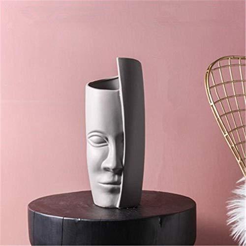 Beeldjes Standbeelden Creative Head Vase Decoration Home Gepersonaliseerde Keramische Vazen Filler For Flowers Office Tafel Accessoires Grote Vaas