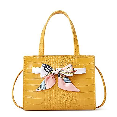NAQUSHA Axelväska för kvinnor nytt mode halsduk rosett handväska liten väska