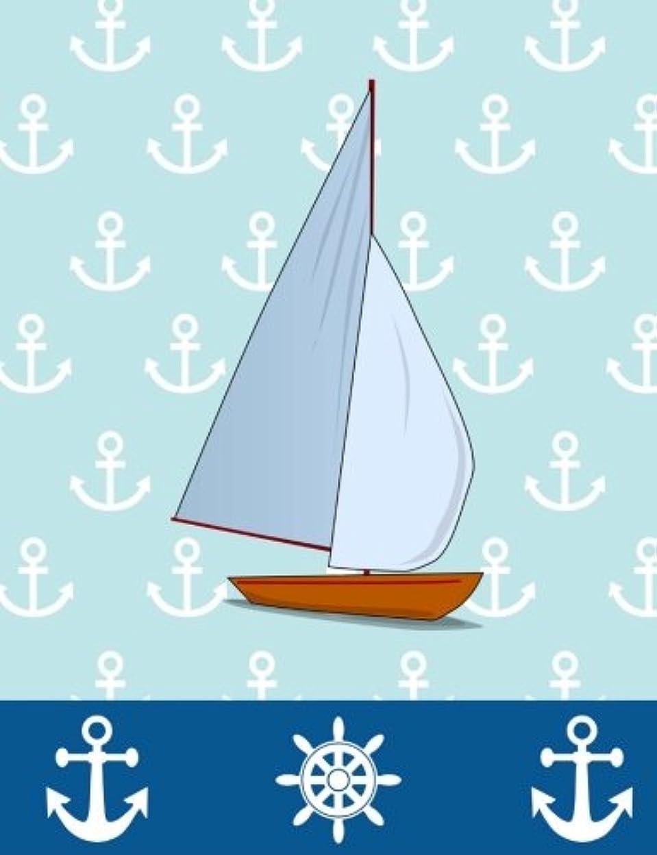 累計乱暴なメキシコBlue Sailboat Nautical Journal: Wide Ruled, 202 Lined Pages, (7.44 x 9.69)