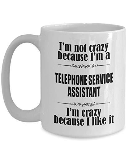 N\A egalos para Secretaria de Servicio telefónico: Taza de café para Asistente de Servicio telefónico, Taza de cerámica para té/café de Asistente de Servicio telefónico para Profesionales