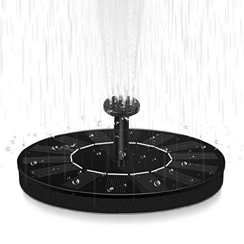 Fontaine Solaire Pompe , Fontaine Solaire Extérieur à Eau Extérieure avec 6 Accessoires de Pulvérisation d'eau pour Jardin, étang, Piscine, Extérieur (M)