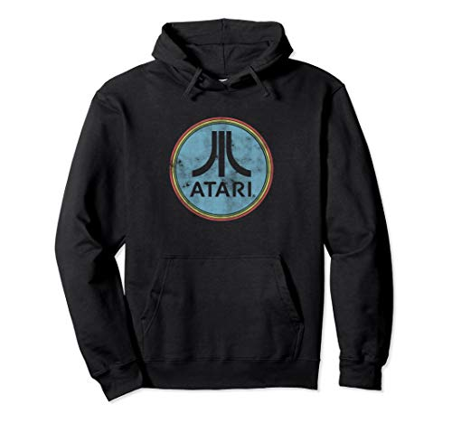 Classic Atari Circle Logo Hoodie for Adults, Unisex S to 2XL