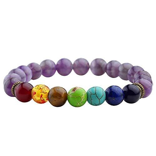 Mano Pulseras Brazalete Joyería Mujer Newst Chakra Pulsera Hombres Beads Reiki Buddha Prayer Stone Yoga Pulsera para Muj