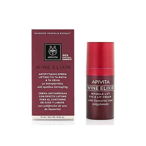 Apivita Wine Elixir Augen- und Lippencreme, 15 ml
