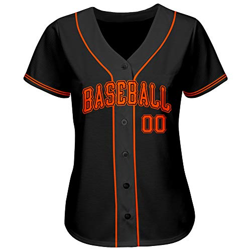 Custom Women's Baseball Jersey Printed or Stitched Your Name and Numbers Button Down Sports Shirts
