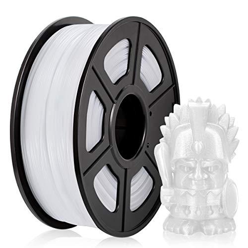 Filamento PETG 1,75MM, PETG Filament Stampanti 3D, PETG Bianca 1KG Spool