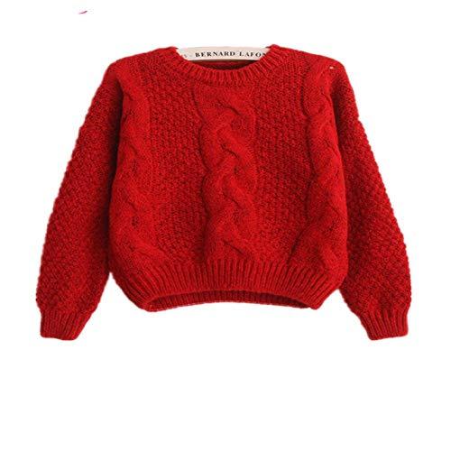 LILIZHAN Vrouwen Truien Warm Pullover en Jumpers Crewneck Mohair Pullover Twist Pull Jumpers Herfst Gebreide Truien Kerstmis