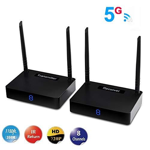 MEASY HD585 trasmettitore e ricevitore hdmi wireless extender hdmi wifi da 5,8 ghz fino a 350 m con funzione di estensione ir (qualità dell immagine fino a 560p-720p)
