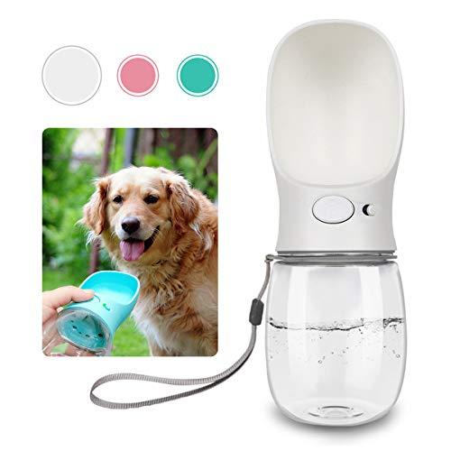 Dog Water Bottle for Walking, Dispenser Pet Portable Dogs Cats 12OZ 19OZ Travel Drink Bottle Bowls BPA Freee,Leak Proof,Food Grade (12oz (12oz), Elegant White)
