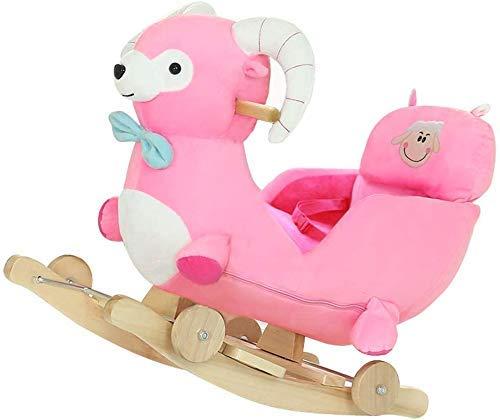 Sofa Children's Rocking Horse baby speelgoed cadeau Planken Music Grote Kinderen Rocking Chair for tweeërlei gebruik Rocking Wiegen, Stuur Cool Pad Lostgaming