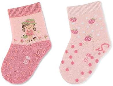 Sterntaler ABS-Krabbelsöckchen DP Mädchen 8012125 Calcetines, rosa, 22 Baby Girls