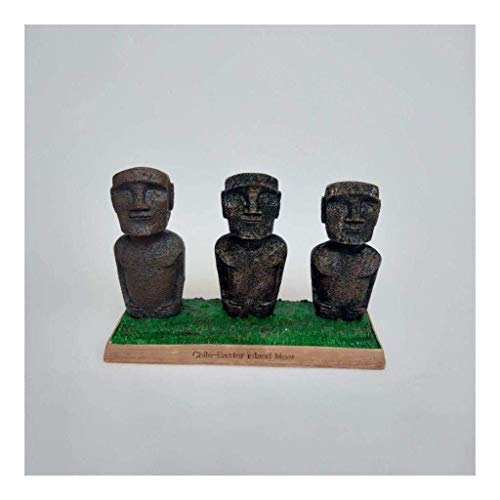 Coleccionables Estatua de Isla de Pascua, Escultura de Resina Artesanal, Modelos de Chile en Miniatura de Edificios Antiguos, Recuerdos, Coleccionables, para Oficina, Decoraciones para el Hogar, J