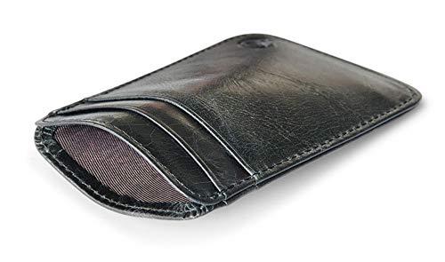 Delgado Tarjeta de crédito Clip Mini Billetera ID Bolsa Bolsa de Tarjeta Negra Bolsa 2020 Hombres y Mujeres 10cm x 6.8cm Negro