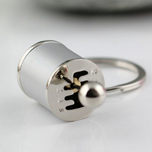 Tuqiang® 1PC Parkett Farbe Schlüsselanhänger Schlüssel Anhänger (Silber)