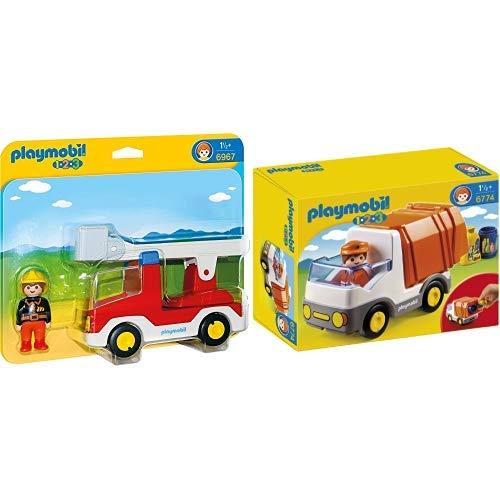 Playmobil 6967 - Feuerwehrleiterfahrzeug &  6774 - Müllauto