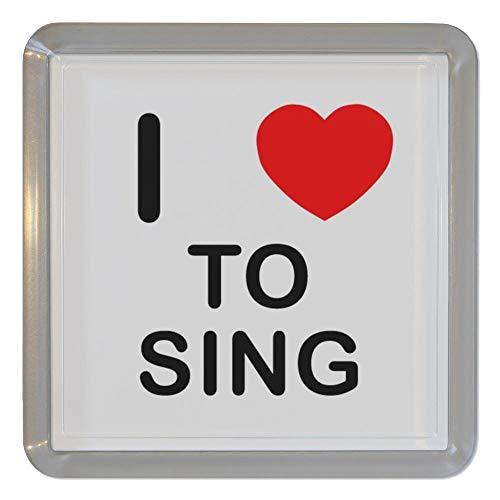 I Love Heart To Sing - Plastica trasparente sottobicchiere del tè/Sottobicchiere da birra