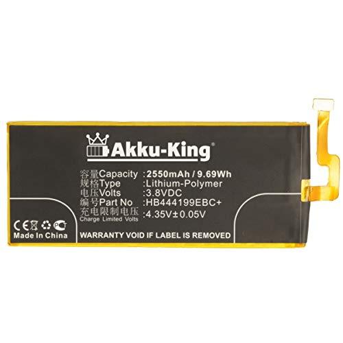 Akku-King Akku kompatibel mit Huawei HB444199EBC+ - Li-Polymer 2550mAh - für Honor 4C, G Play Mini, C8818, CHC-U01, CHM-CL00, CHM-TL00H, CHM-UL00, G650