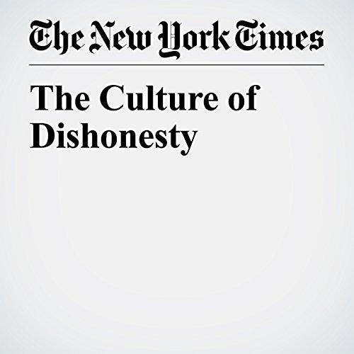 The Culture of Dishonesty copertina