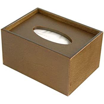 【greener】 ポケットティッシュボックス [ポケットティッシュ用木製ケース] ブラウン
