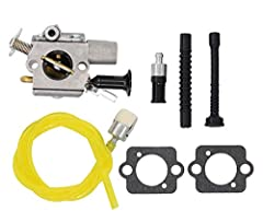 Fitment:Fit Stihl MS261 MS271 MS291 Replaces Zama C1Q-S252 Package Include:Package includes : 1 x Carburetor 2 x Gaskets 3 x Fuel Line 1 x Fuel Filter 1 x Oil Filter Replaces OEM#: 1141-120-0616 Note:what you see is what you will receive.Actual pictu...