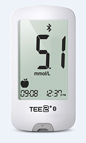 TEE2+ Blood Glucose Meter - Easy to use, Accurate, Stores 1000 Readings, Bluetooth Compatible