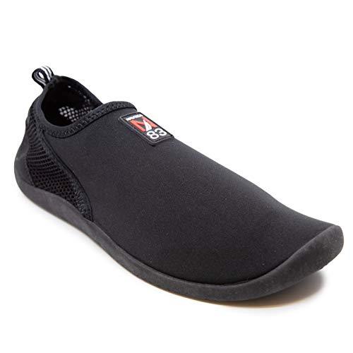 Nautica Mens Athletic Water Shoes | Aqua Socks| Slip-on Sandals-Marcc Mens-Black-11