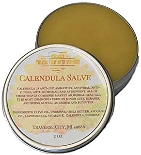 Calendula Salve with lavender essential oil and vitamin E, Anti-inflammatory properties.