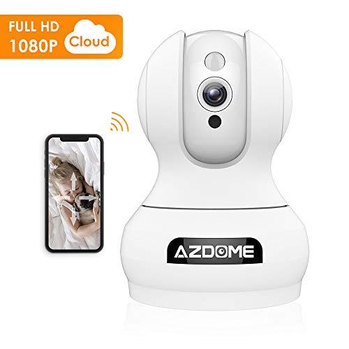 AZDOME Telecamere IP senza fili 1080P Cloud WiFi, IP Camera WiFi| Visione Notturna Nitida | Allarme dei Movimenti | Audio Bidirezionale, Videocamere di sorveglianza Smart H.264 - FI-362B
