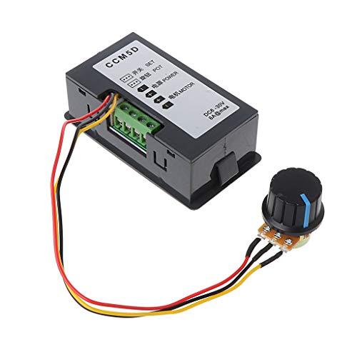 Controlador de velocidad del motor BAIRU Max PWM con pantalla digital DC 6-30V 12V 24V 15A