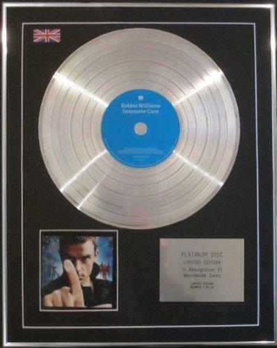 ROBBIE WILLIAMS CD Platinum Disc-cure INTENSIVE