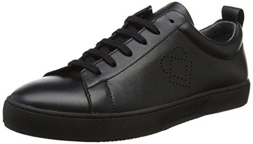 Liebeskind Berlin Damen LH173200 snappa Sneaker, Schwarz (Oil Black), 38 EU