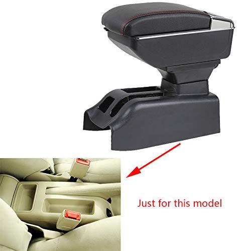 Für Bora Golf 4 Luxus Auto Armlehne Mittelarmlehne mittelkonsole Zubehör Eingebaute LED-Licht Schwarz