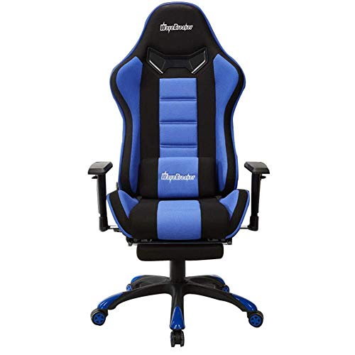 GXDHOME Executive Recline Swivel Office Chair, Ergonomic E-Sports Gaming Chair High Back Adjustable Heavy Duty Computer Desk Chair PU Leather Recliner Padded Office Chair (Color : Blue, Size : B)