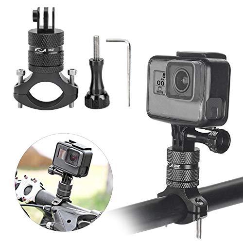 Jinyi Soporte de la cámara de la acción de la Bici, Soporte de la cámara de la acción, artículo de la rotación de 360 Grados para la Bici(Black)