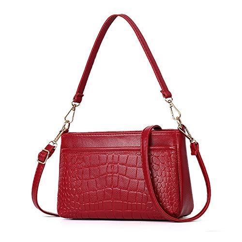 Fascigirl Faux Leather Shoulder Handbag Fashion Adjustable Strap Top Handle Bag Casual Handbag Crossbody Bag