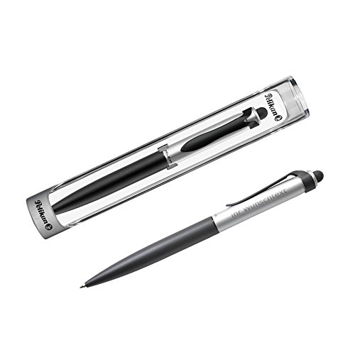 Pelikan Kugelschreiber K15 stola II schwarz/silber inkl. Laser-Gravur