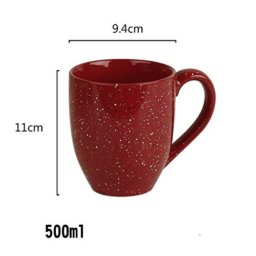 ZHENXI Cappuccino Mugs,Ideal for Hot Drinks, Afternoon Tea,Coffee,Latte,Hot Chocolate and More,500ML-G