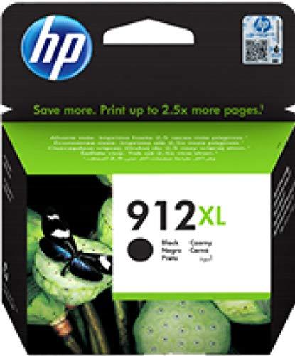 HP 912XL, 3YL84AE, Cartuccia Originale ad Alta Capacità da 825 Pagine, Compatibile con Stampanti a Getto di Inchiostro OfficeJet Pro Serie 8010 e 8020, Nero