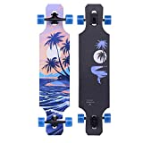 39 inch longboard drop through - qwert Longboard Skateboard 39 inch Drop Through Deck Complete Maple Cruiser Freestyle, for Kids Boys Girls Youths Beginners