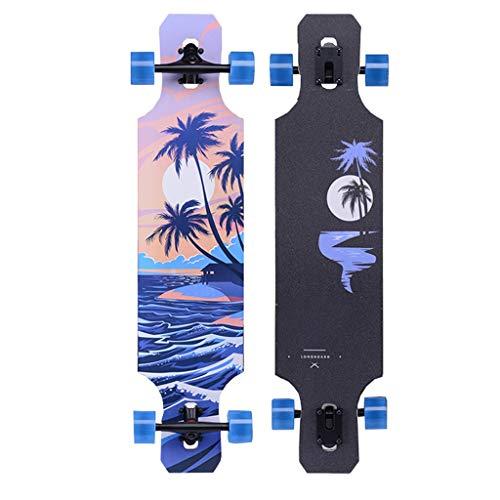 qwert Longboard Skateboard 39 Pulgadas Drop Through Deck Com