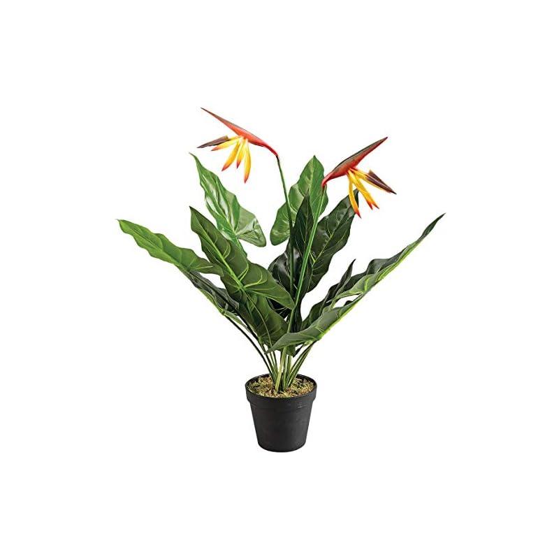 silk flower arrangements oakridge bird of paradise flower in black pot, artificial flowers arrangement centerpiece