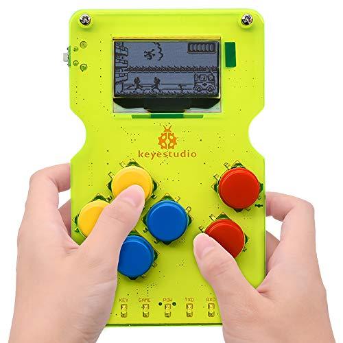 KEYESTUDIO GAMEPI ATMEGA32U4 Chip DIY Classic Mini Portable 1.3 inch display Retro Video Game Console Starter Kit for Arduino