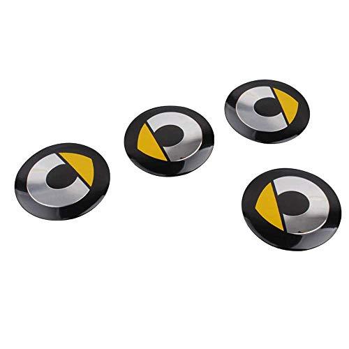 4Pcs Radnabenkappen, für Mercedes Benz Smart Fortwo 450 451 453 56mm Car Wheel Aufkleber Radnabenabdeckung...