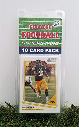 Iowa Hawkeyes- (10) Card Pack College Football Different Hawkeye Superstars Starter Kit! Comes in Souvenir Case! Great Mix of Modern & Vintage Players for the Super Hawkeyes Fan! By 3bros